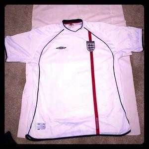Vintage Soccer Jersey Umbro England Home Jersey!